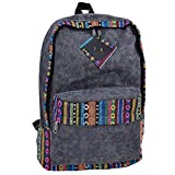 Nasis Women Girls Large Basic Vintage Canvas Backpack Multi Function Daypacks AL5014 grey