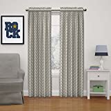 Eclipse 15655052063GRE Kai 52-Inch by 63-inch Thermal Blackout Single Window Curtain Panel, Grey