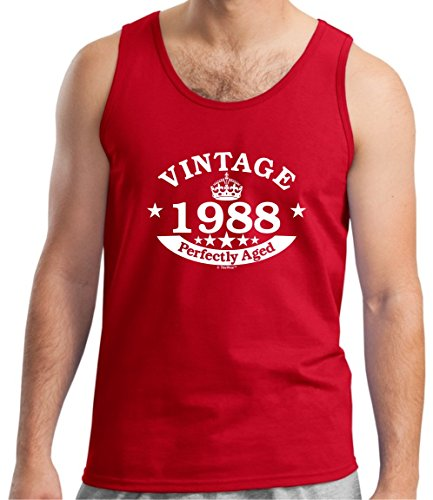 30th Birthday Gift Vintage 1988 Perfect Aged Crown Tank Top