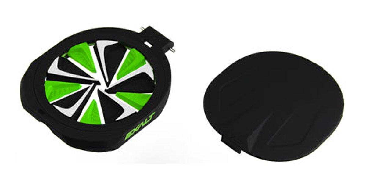 Exalt Paintball Spire FastFeed Loader FeedGate - Black/Lime/White by Exalt