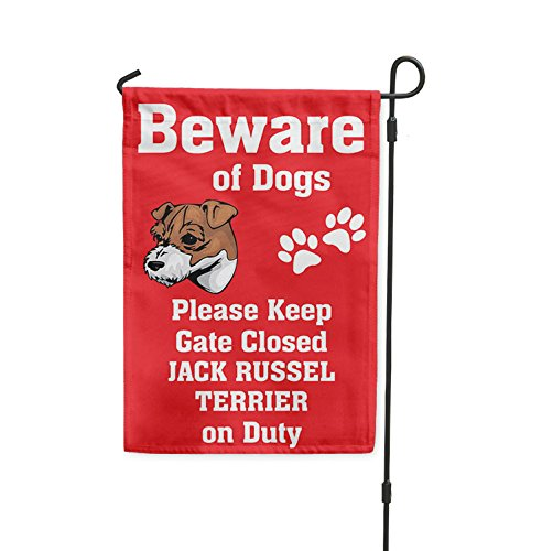 Beware of JACK RUSSEL TERRIER DOG on Duty Yard Patio House B