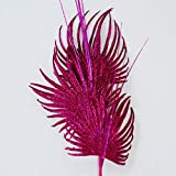 Glittered Palm Leaf Trio Foral Arrangments Home Decorating Wedding Accesories