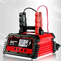 Battery Charger 20A Fully Smart Battery Charger Maintainer 12V 24V AGM GEL Lead-Acid Liion Lithium Motorcycle Auto…
