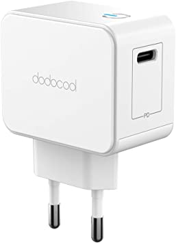 dodocool Cargador USB C, 18W PD Pared de Cargador Rapido para iPad ...
