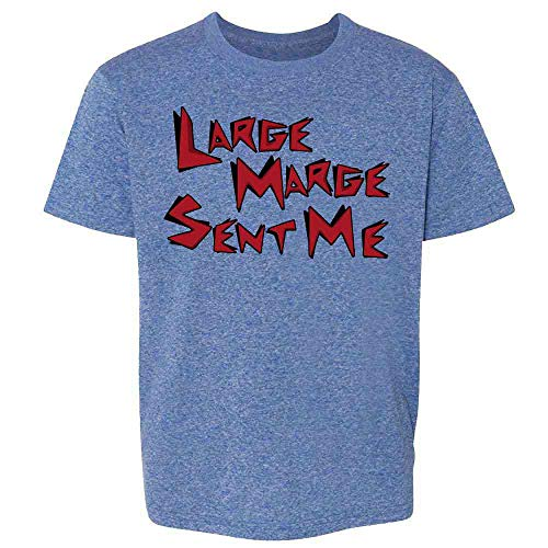 Pop Threads Large Marge Sent Me Funny Retro Heather Royal Blue 6 Toddler Kids T-Shirt