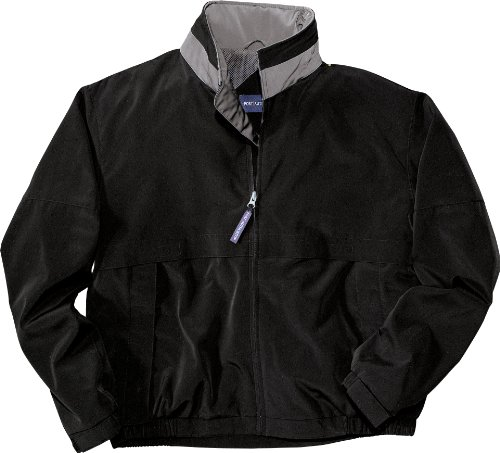 Port Authority Legacy Jacket with Stowaway Hood J764 4XL Black/Steel Grey