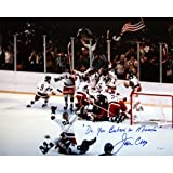 Steiner Sports NHL USA Hockey Jim Craig 1980 USA Celebration 16 x 20-inch with ''Do You Believe in Miracles?'' Inscription.