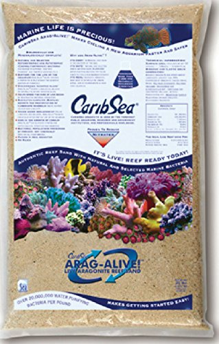 Aragonite Saltwater Substrate - Carib Sea Arag-Alive Special Grade Reef Sand, 20-Pound