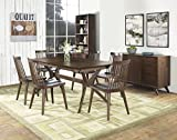 Coastlink Hawaii Walnut Extension Dining Set For 6 - Spindle Back Chairs