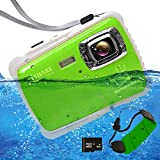 Waterproof Camcorders Digital Camera For Kids, 12MP HD Underwater Action With 8x