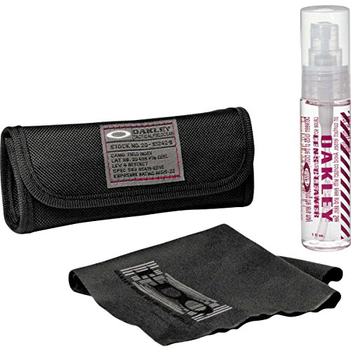 Oakley Minuterie Lens Adult Cleaning Kit Sunglass Accessories - Black / One - Oakley Bikes