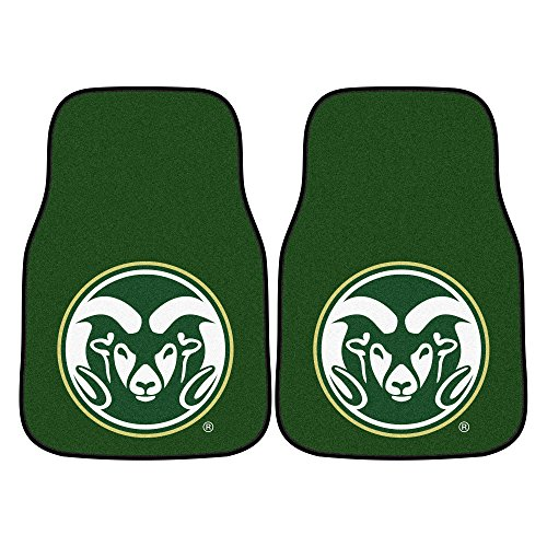 CC Sports Decor NCAA Colorado State University Rams 2-PC Set of Front Carpet Car Mats, Universal Size