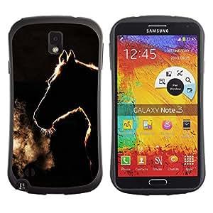 Paccase / Suave TPU GEL Caso Carcasa de Protección Funda para - winter minimalist black horse stallion - Samsung Note 3 N9000 N9002 N9005
