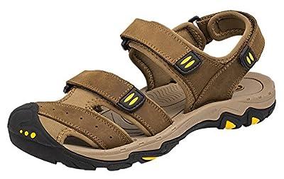 AGOWOO Women's Sandals Closed Toe Hiking Beach Sandles