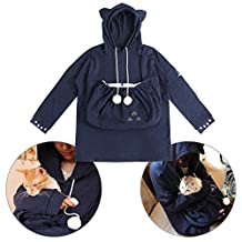D-Sun Kangaroo Pet Hoodie - Big Pouch Carrier for Dog Cat Pet Sweatshirt