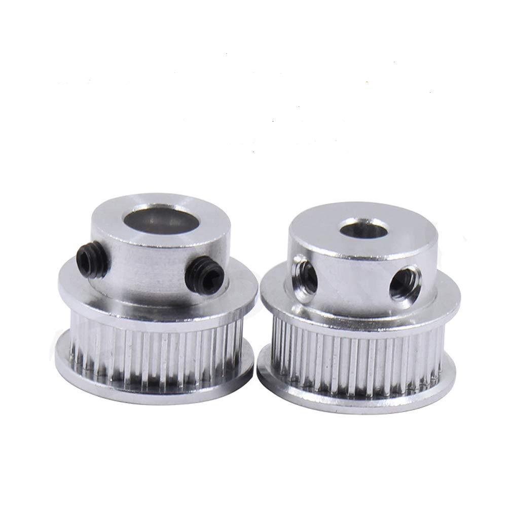 GT2 Puleggia cinghia dentata 30//36//40//48//60 denti foro per 5//6.35//8//10//12 mm larghezza del foro della stampante 3D CNC taglierina laser 30T-Bore 5mm-Belt 6mm 100