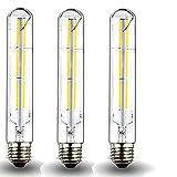 60 watt tubular bulb - Klarlight Dimmable 6 Watt LED T10 Tubular Light Bulb 60 Watt Incandescent Equivalent E26 Edison Vintage Filament Tube Lamp, Daylight 6000K Medium Base Clear Glass Bulb (3-Pack)