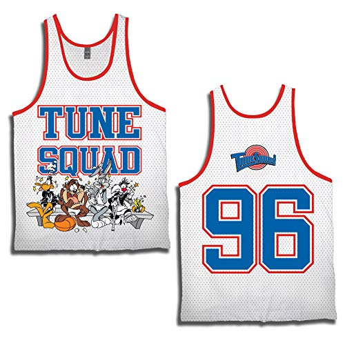 f83d19bea85 space jam Mens Classic Tank - Tune Squad Michael Jordan   Bugs Bunny Jersey  90 s Classic Tank Top (White Tune