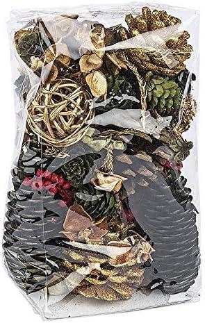 elementi decorativi. rami 200 g pigne set di decorazioni Idea con cuore in acciaio pourri diversi fiori