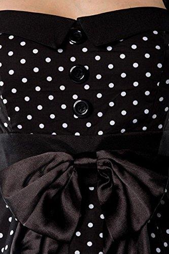Black Danse 50s Cousue Robe Qualit Haute Petticoat Pin Retro De Up white Dress Rockabilly x1gw7AA