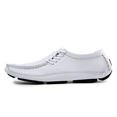 Mocasines Causual de Hombre Zapatos de Cuero de Hombre Cómodo Zapatos Planos de Ocio Caminata de