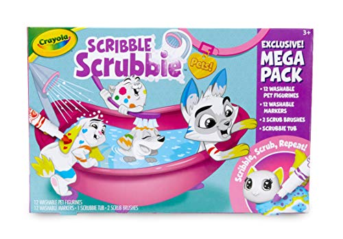 Crayola Mega Scribble Scrubbie Pets Set, Amazon Exclusive, Toy Pet Playset, Gift for Kids, Age 3, 4, 5, 6