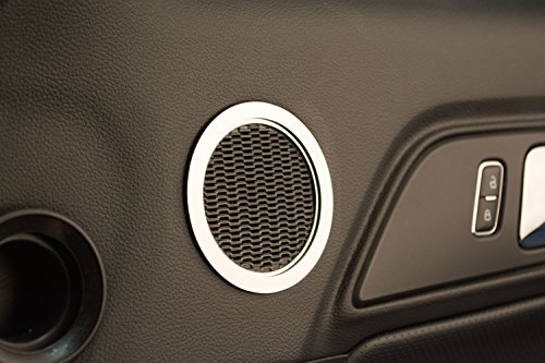 American Car Craft 271039 Polished Speaker Trim Ring, 2 Piece (Midrange Polished) - Speaker Trim Rings