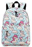 Kids Preschool Backpack Girls Toddler Kindergarten Bookbag Water Resistant (Light Blue S/18)