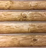 NEW Log Cabin Wallpaper REAL LOG LOOK Rustic Wall Paper DOUBLE ROLL Prepasted