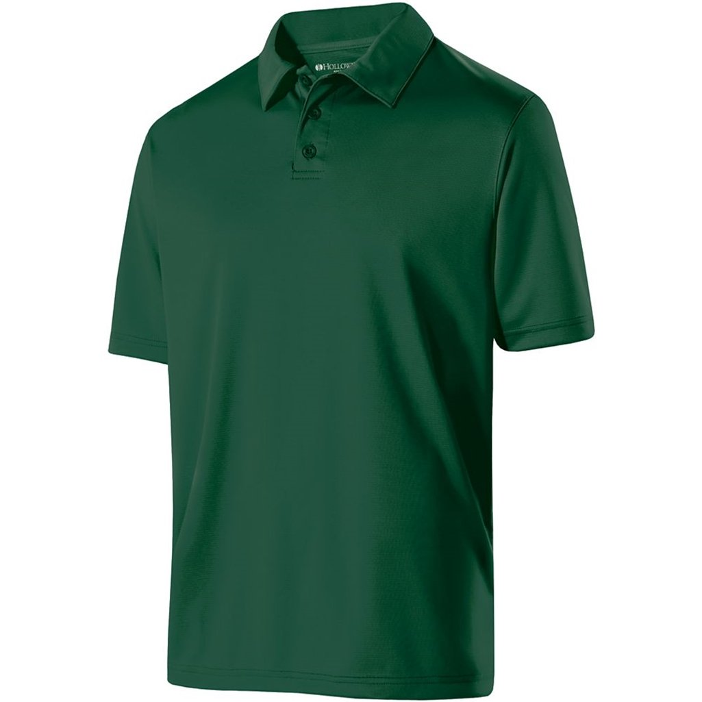 Holloway Mens Dry Excel Shift Polo (Small, Forest)