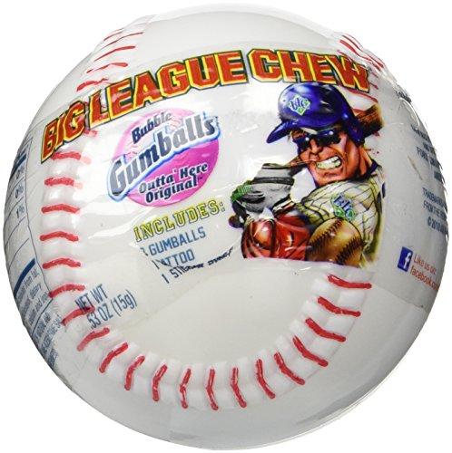 Big League Chew Bubble Gumballs Outta Here Original with Sticker Sheet
