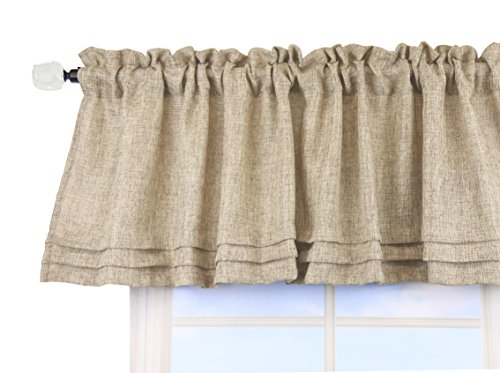Aiking Home Solid Classic Valance 56 By 16 Inches, Wheat