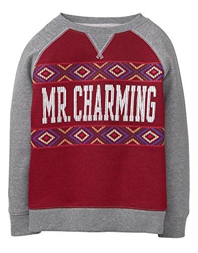 - Gymboree Boys' Little Charming Pullover Sweatshirt, Cabernet, M