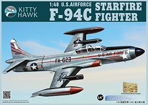 KH80101 1:48 Kitty Hawk F-94C Starfire Fighter US Air Force MODEL KIT (Air Force Fighter Kit)