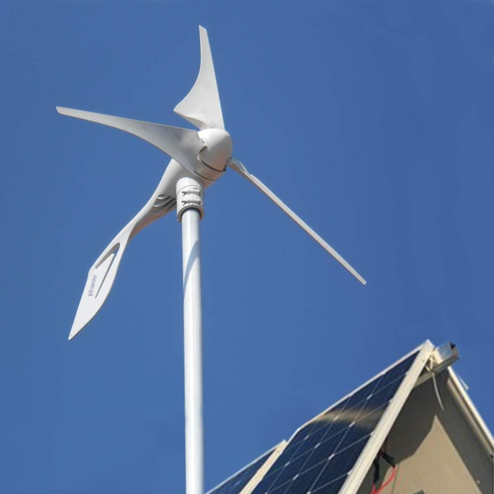 12V con controlador 6 cuchillas de energ/ía libre 800W turbina de viento 12v 24v 48v generador de viento de alta eficiencia molino de viento para casa yate granja