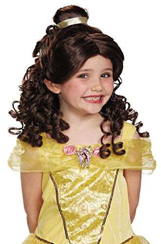 Belle Child Disney Princess Beauty & The Beast Wig, One Size Child (Child Costume Classic Belle)