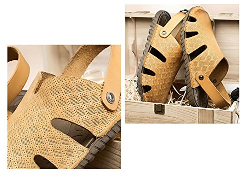 sandals summer Brown shoes new beach leather shoes Baotou men's 2017 pw4qZxEYw