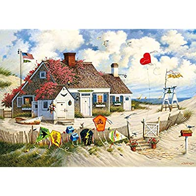 Charles Wysocki's- Root Beer Break at The Butterfields - 1000 Large Piece Jigsaw Puzzle: Toys & Games