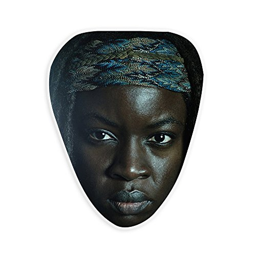 Dead Celebrities Halloween Costumes (Serious Walking Dead Michonne Mask - Perfect for Halloween, Masquerade, Parties, Events, Festivals, Concerts - Jumbo Size Waterproof Laminated)
