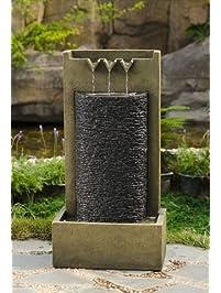 Jeco Stone Wall Indoor Outdoor Water Fountain