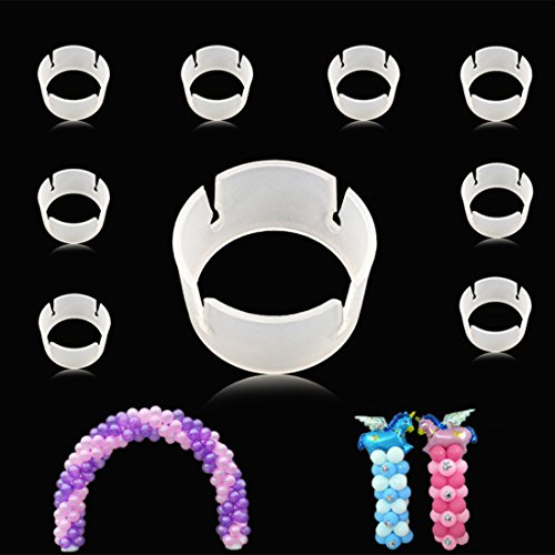 GuassLee 100pcs Balloon Ring Clips for Balloon Arch