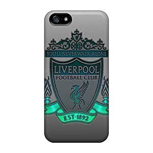 Hard Plastic Iphone 5/5s Case Back Cover,hot Liverpool Logo Case At Perfect Diy by runtopwell