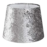 Small Modern Tapered Table/Floor Lamp Light Shade in a Silver Grey Velvet F