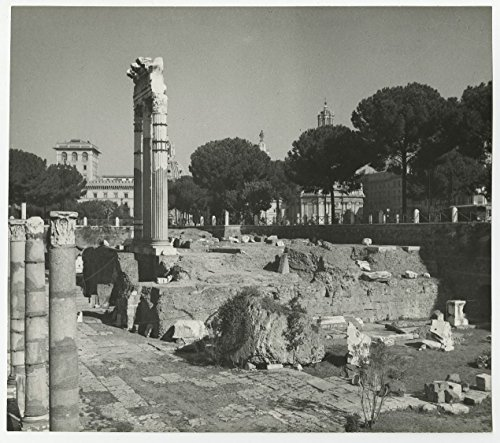 Italian Architecture - Vintage Publication Photograph - Forum of - Forum Caesars