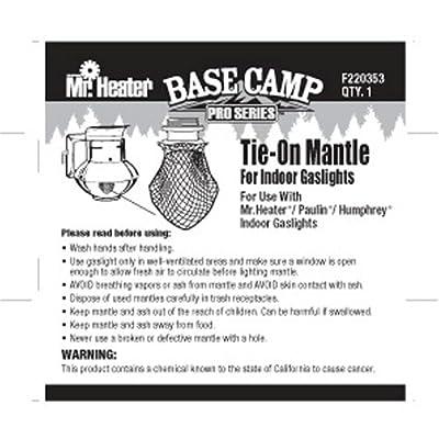 Mr. Heater Base Camp Pro Series Tie-On Mantle for Indoor Propane Gaslights