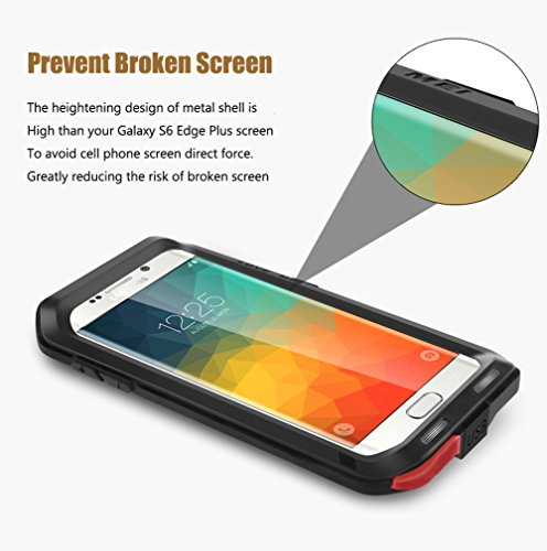 buy online fb633 f6850 Galaxy S6 Edge Plus Case,3C-Aone Armor Tank Aluminum Metal Shockproof  Military Heavy Duty Protector Cover Hard Case for Samsung Galaxy S6 Edge  Plus/S6 ...