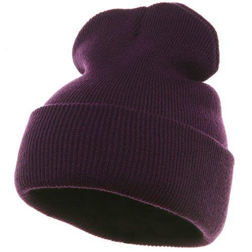Long Beanie-Purple W16S24E - Long Beanie Purple