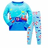Qtake Fashion Boys Pajamas Children Rocket Clothes Set 100% Cotton Little Kids Pjs Sleepwear (7-8 Years, Pajamas3)