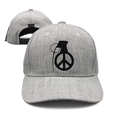 (Unisex Grenade with Peace Sign Tattoo idea Cap Vintage Flat Brim Trucker Hat)