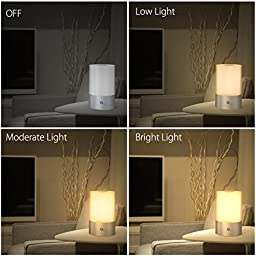 1byone Touch Lamps Bedside Table Lamp Bedside Lamp Dimmable Table Light Touch Sensor Bedside Lamp - Warm White